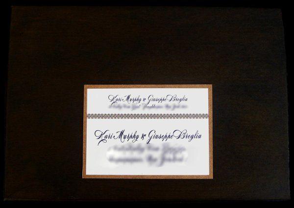 Tmx 1265275216586 INVITATIONWEDDINGKRAFTGRAPEBORDERBOX Los Angeles wedding invitation