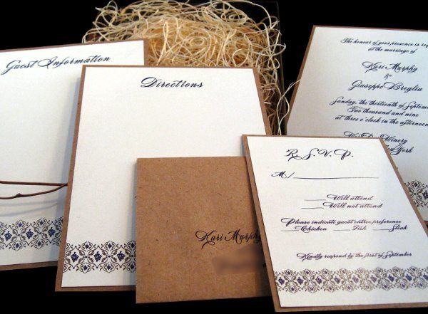 Tmx 1265275224336 INVITATIONWEDDINGKRAFTGRAPEBORDERBOX9 Los Angeles wedding invitation