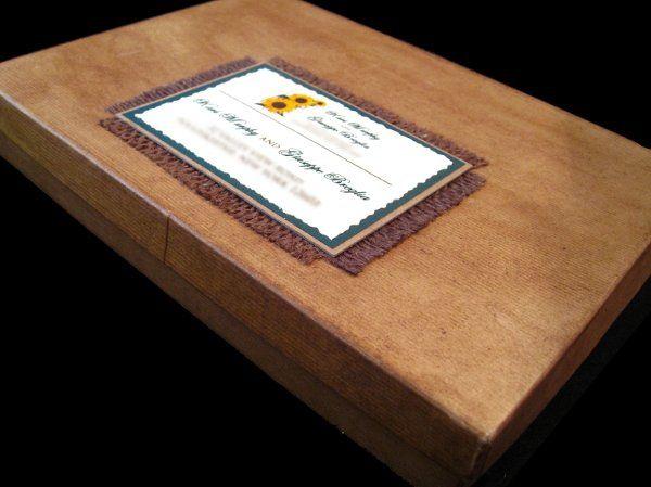 Tmx 1265275250742 INVITATIONWEDDINGSUNFLOWERBURLAPBOX11 Los Angeles wedding invitation