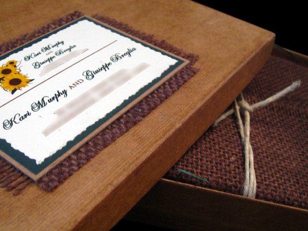 Tmx 1265275306914 INVITATIONWEDDINGSUNFLOWERBURLAPBOX12 Los Angeles wedding invitation