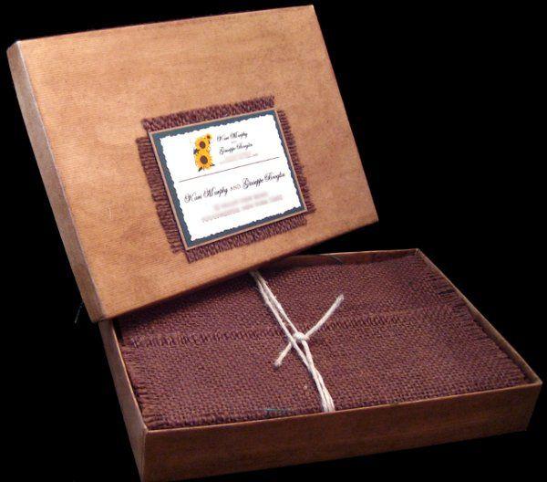 Tmx 1265275320851 INVITATIONWEDDINGSUNFLOWERBURLAPBOX13 Los Angeles wedding invitation
