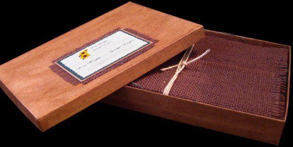 Tmx 1265275331164 INVITATIONWEDDINGSUNFLOWERBURLAPBOX14 Los Angeles wedding invitation