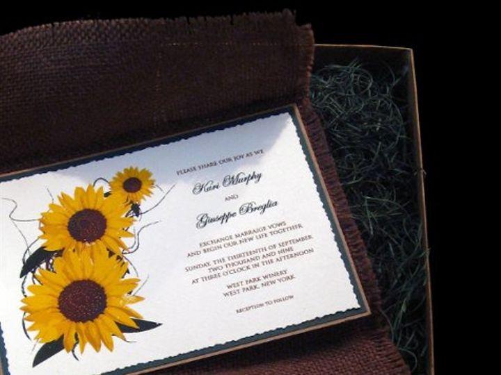 Tmx 1265275408132 INVITATIONWEDDINGSUNFLOWERBURLAPBOX17 Los Angeles wedding invitation