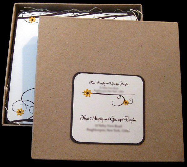 Tmx 1265275449648 INVITATIONWEDDINGSUNFLOWERBOX11 Los Angeles wedding invitation