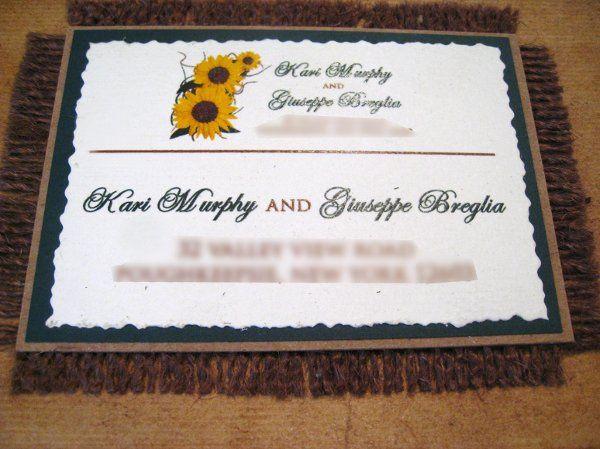 Tmx 1265275470539 INVITATIONWEDDINGSUNFLOWERBURLAPBOX19 Los Angeles wedding invitation