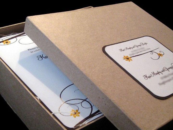 Tmx 1265275477476 INVITATIONWEDDINGSUNFLOWERBOX12 Los Angeles wedding invitation