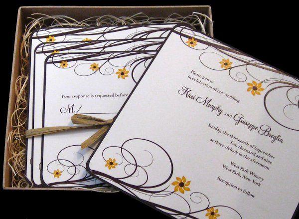 Tmx 1265275509476 INVITATIONWEDDINGSUNFLOWERBOX13 Los Angeles wedding invitation
