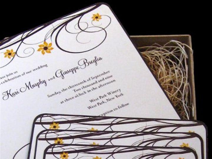 Tmx 1265275521539 INVITATIONWEDDINGSUNFLOWERBOX14 Los Angeles wedding invitation