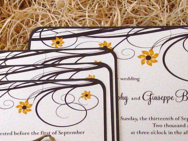 Tmx 1265275551757 INVITATIONWEDDINGSUNFLOWERBOX15 Los Angeles wedding invitation