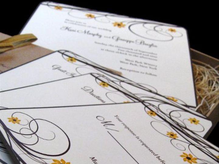 Tmx 1265275590148 INVITATIONWEDDINGSUNFLOWERBOX17 Los Angeles wedding invitation