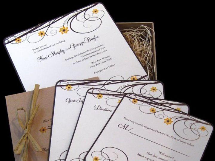 Tmx 1265275590961 INVITATIONWEDDINGSUNFLOWERBOX18 Los Angeles wedding invitation