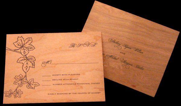 Tmx 1265275612289 INVITATIONWEDDINGWOODLEAF10 Los Angeles wedding invitation