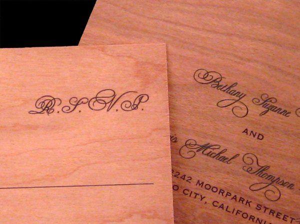 Tmx 1265275642711 INVITATIONWEDDINGWOODLEAF13 Los Angeles wedding invitation