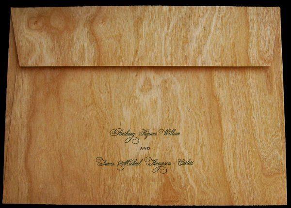 Tmx 1265275717804 INVITATIONWEDDINGWOODLEAF2 Los Angeles wedding invitation
