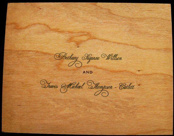 Tmx 1265275784086 INVITATIONWEDDINGWOODLEAF5 Los Angeles wedding invitation