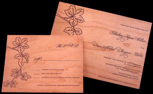 Tmx 1265275817179 INVITATIONWEDDINGWOODLEAF7 Los Angeles wedding invitation