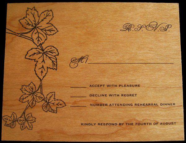 Tmx 1265275826601 INVITATIONWEDDINGWOODLEAF6 Los Angeles wedding invitation
