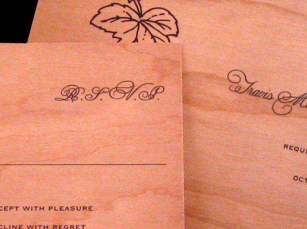 Tmx 1265275861351 INVITATIONWEDDINGWOODLEAF9 Los Angeles wedding invitation