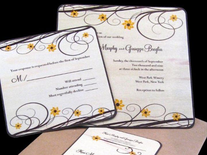 Tmx 1265275898273 Woodsunflowerweddinginvite2 Los Angeles wedding invitation