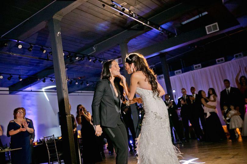 Newlyweds on the dancefloor