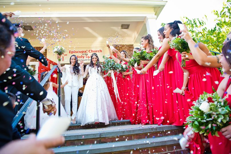 Celebration of the newlyweds