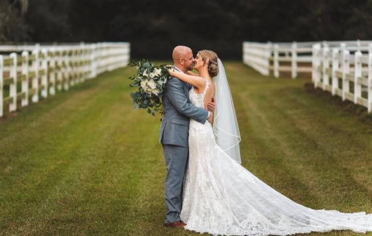 Newlyweds kissing | Concept Photography