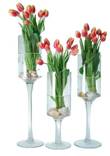 Cylinder Stemware Vase (Candle Holder): For Wedding Event, Floral Arrangement, floral glass vases....