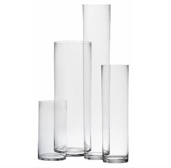 Cylinder Vase: Classic cylinder vases for wedding event and floral arrangement.   Website:...