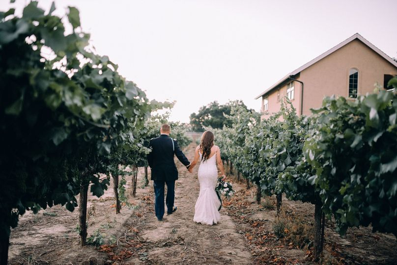 Bride and Groom Stroll
