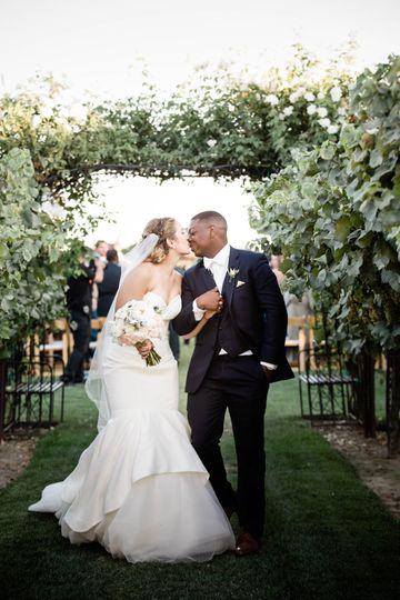 Their First Kiss as Mr. & Mrs.