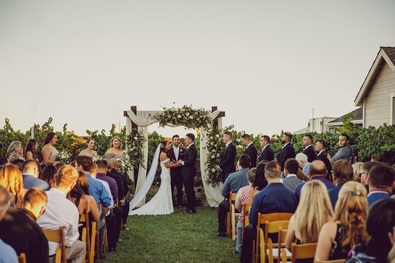 Ceremony in Chardonnay Garden
