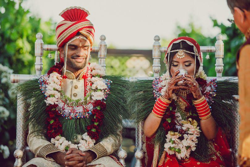 Bride and Groom Hindu Ceremony