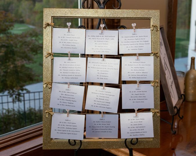 Custom Seating Chart Frame