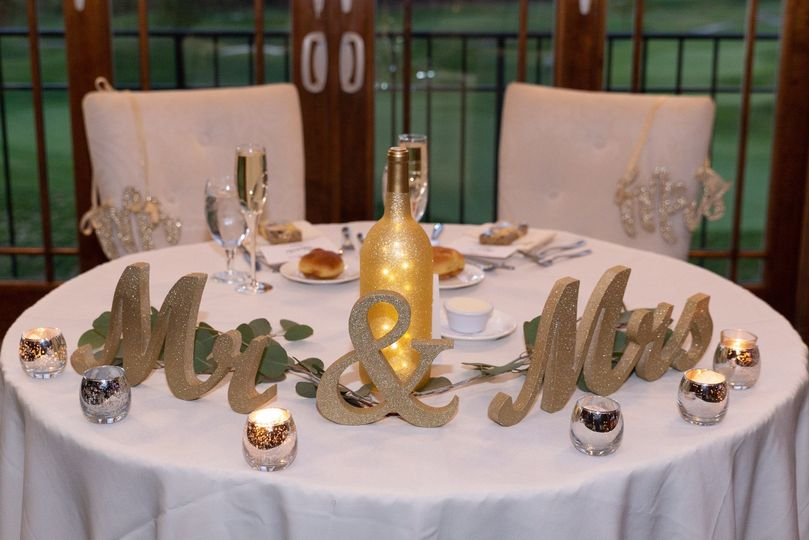 Mr and Mrs Standing Table Sign
