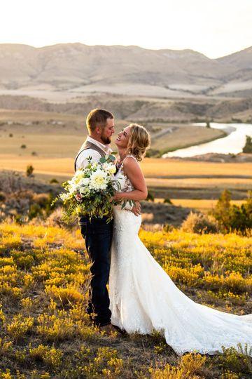 Landscape wedding photos