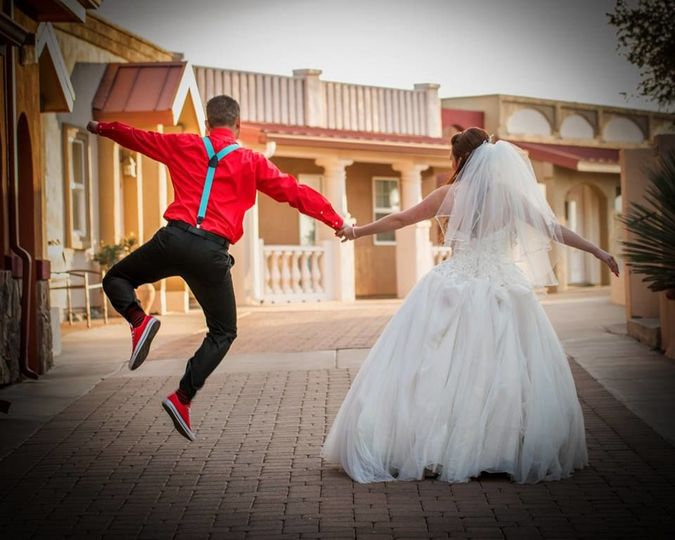 Groom gets his kicks!