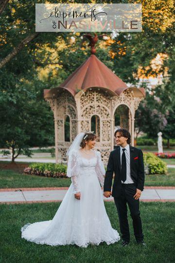 Bridal photos outside