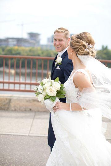 Stone Arch Bridge Wedding Photos by Katie Fears of Brio Art Photography MN