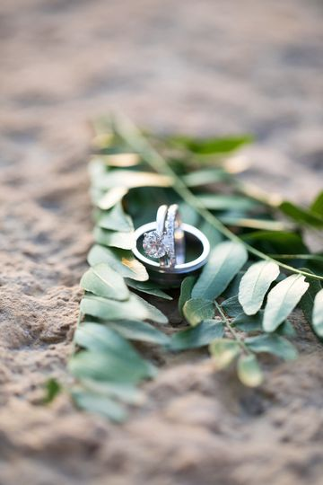 Ring photo from wedding day by Katie Fears