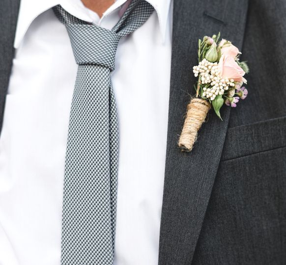 Petals and Flora boutonniere