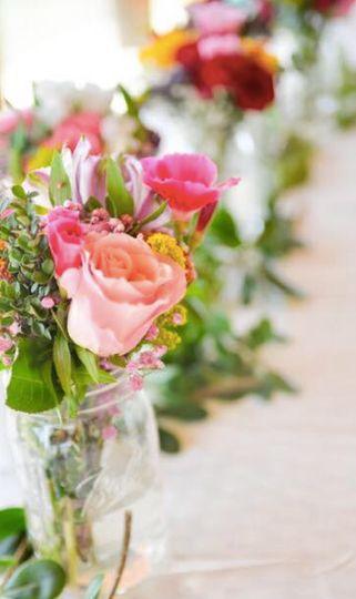 Petals and Flora table decor