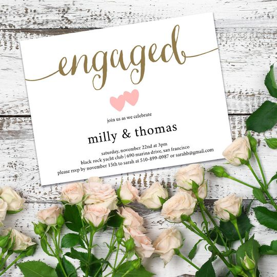 Milly Engagement Party Invite