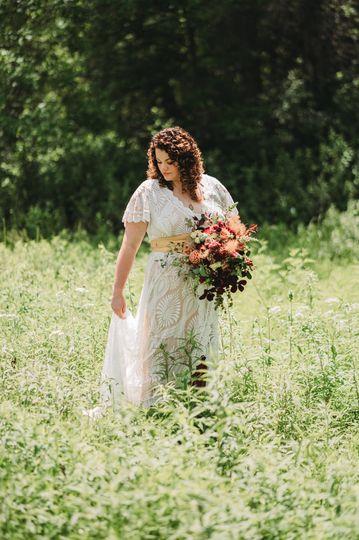 Walking through wildflowers