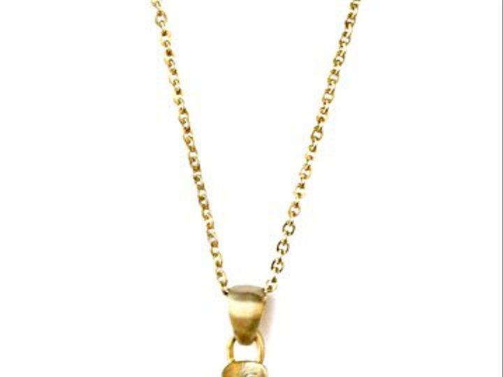 Tmx 1284453161486 BrushedGoldNecklace Los Angeles wedding jewelry