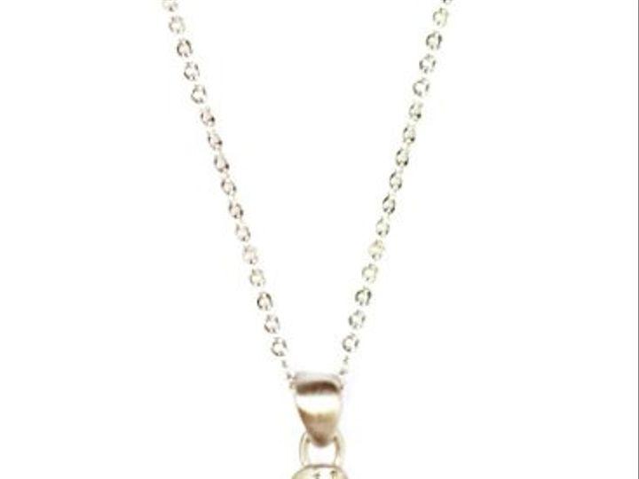 Tmx 1284453164361 BrushedSilverNecklace Los Angeles wedding jewelry