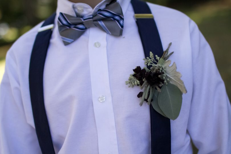 One-of-a-kind boutonniere
