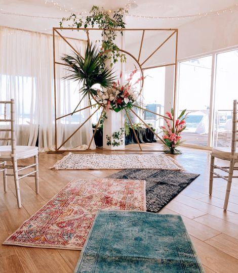 Creative ceremony set-up