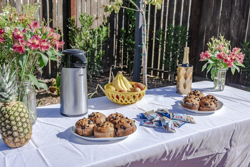 Wedding brunch table