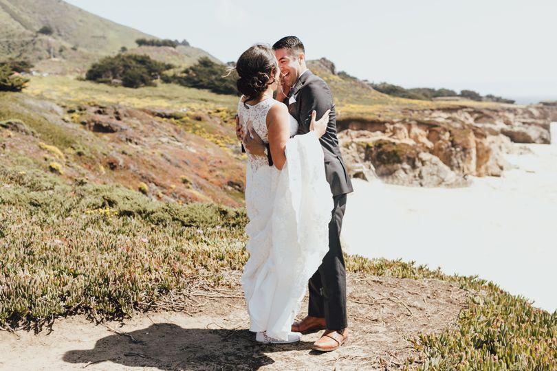 Bride & groom at the beach