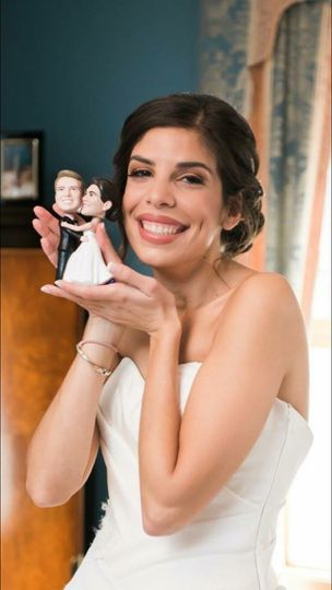 Bride with caricature figures